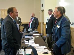 Ryan Lance and Sen Larry Hicks (click to enlarge)