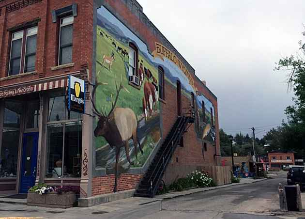 Mural at Margo's pottery & fine crafts. Buffalo, Wyoming. (WyoFile - click to enlarge)