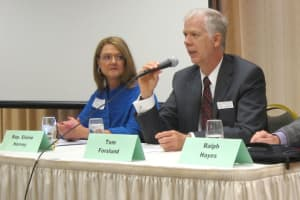 Rep. Elaine Harvey and Tom Forslund
