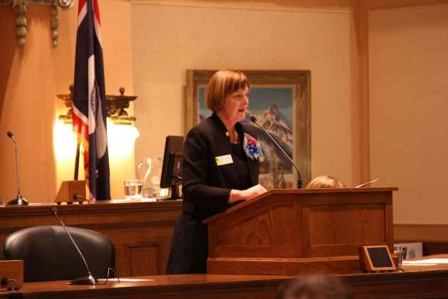 Rep. Mary Throne (D-Cheyenne) opposed HB 83, saying it has no exemptions relating to non-discrimination in public businesses. (Gregory Nickerson/WyoFile)