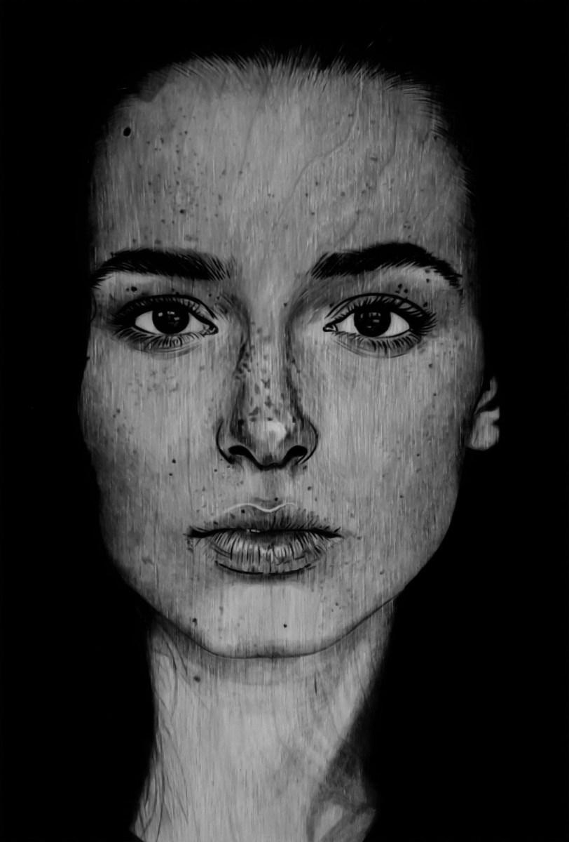 Portret na drewnie