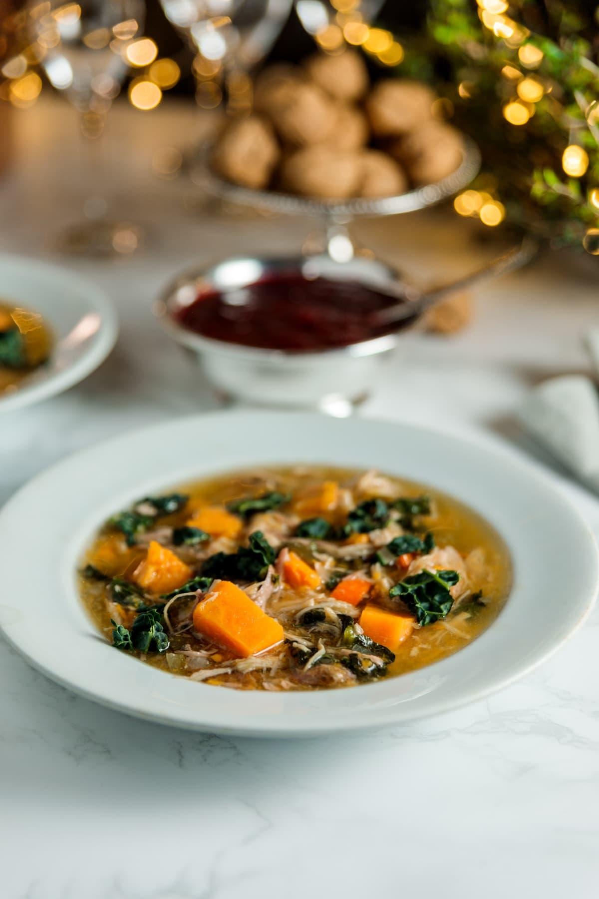 Slow Cooker Turkey, Sweet Potato + Kale Soup | Wyse Guide