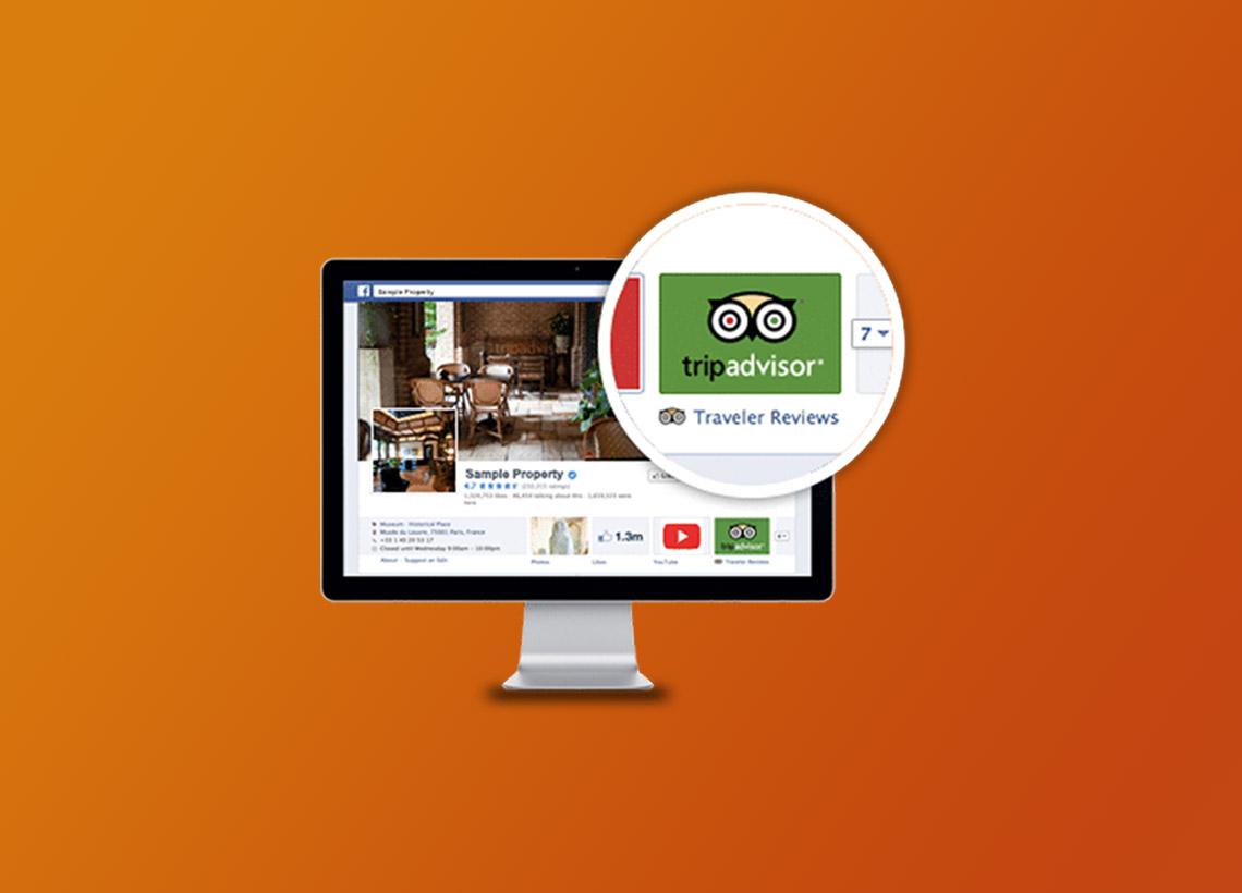 Module TripAdvisor sur facebook restaurant