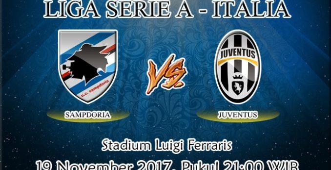 Prediksi Bola Sampdoria vs Juventus 19 November 2017