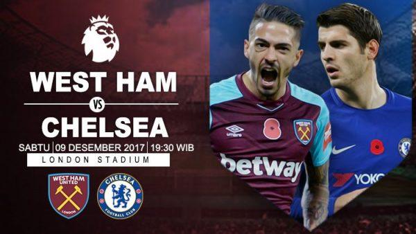 Prediksi West Ham United vs Chelsea 09 Desember 2017