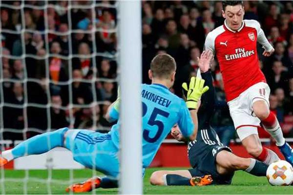 Laporan Pertandingan Liga Europa Arsenal VS CSKA Moscow