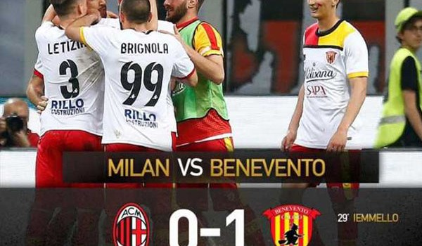 Laporan Pertandingan Sepakbola Liga Italia AC Milan VS Benevento