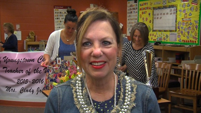 Cindy Johnson was named the Teacher of the Year by Youngstown City Schools_40269