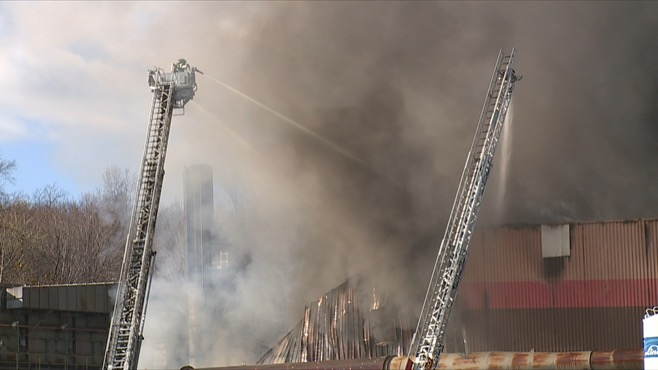 Lithium fire in Ellwood City is contained, employees monitoring_57854