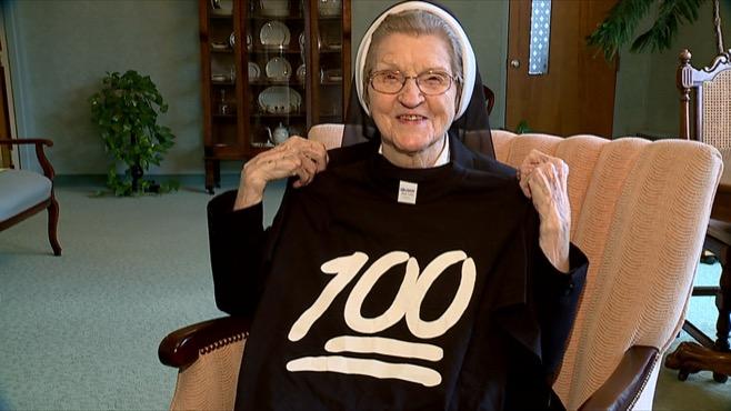 Sister Jerome Corcoran's 100th birthday_75090