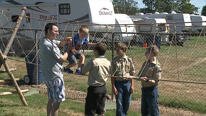 Boy Scouts at Canfield Fair_92124