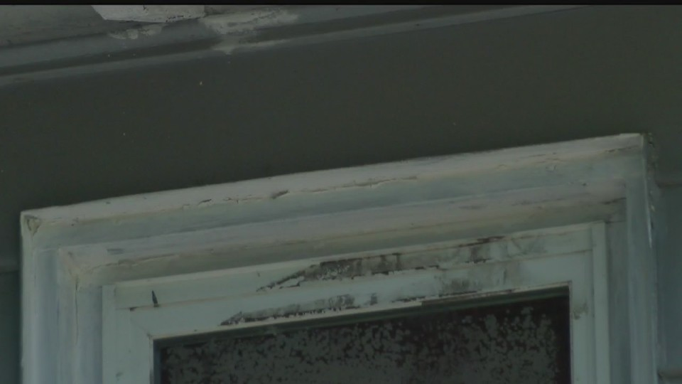 Chipped paint on Youngstown, Ohio home