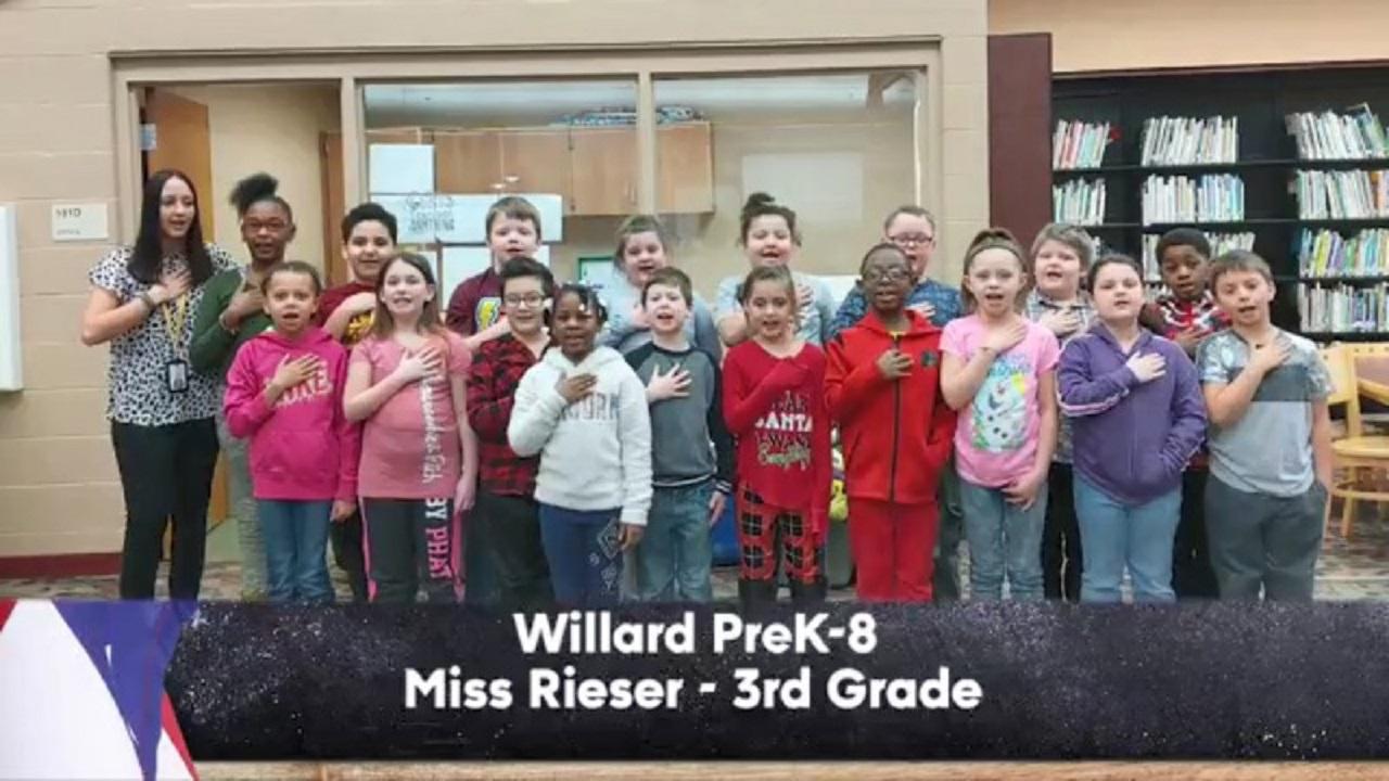 Willard PreK-8 - Miss Rieser - 3rd Grade