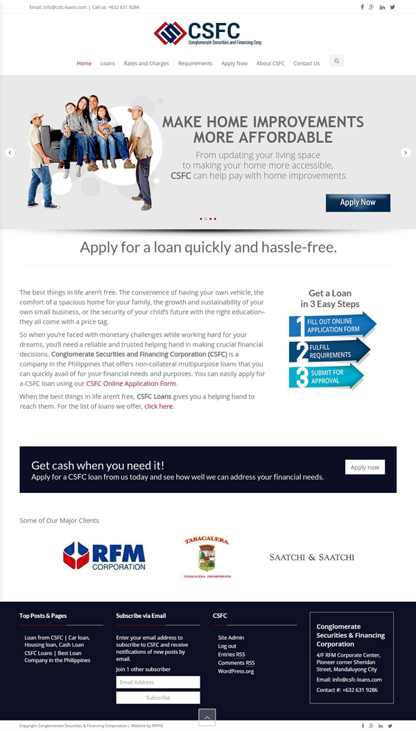 Conglomerate Securities and Financing Corporation Homepage