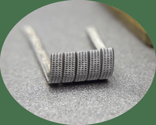 4 core staple staggered fused Handmade vape coils