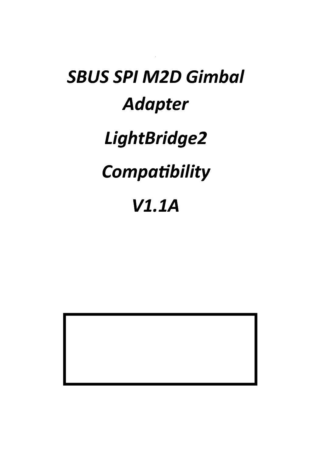 M2d Eoir Gimbal Flir Thermal Hd Sbus Lightbridge