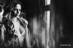 retrato sensual en blanco y negro
