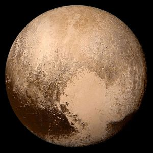 Pluto. This is the real deal, that icy world we all seem to love so much.