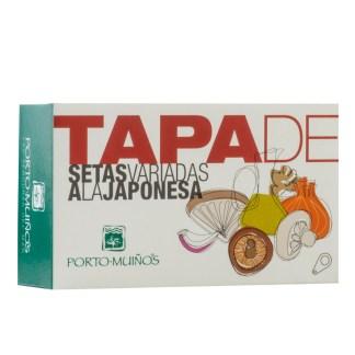 Portomuiños Tapa setas variadas a la japonesa