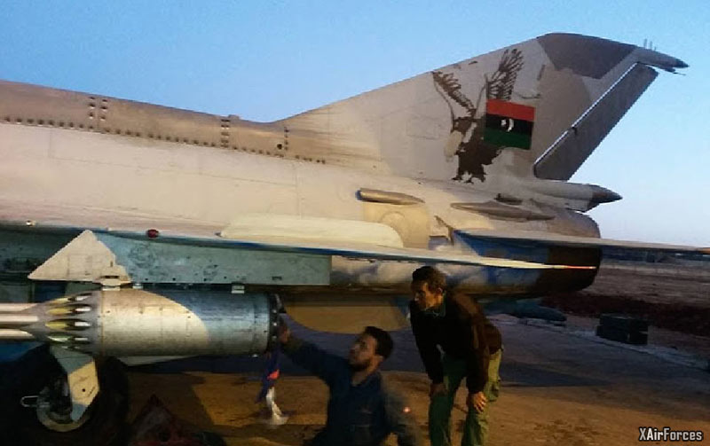 Libyan National Army Air Force MiG-21MF Fishbed-J (18) in Tobruk