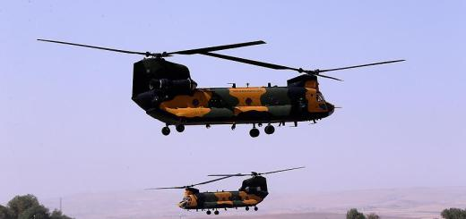 Turkish Special force Aviation CH-47F Chinook