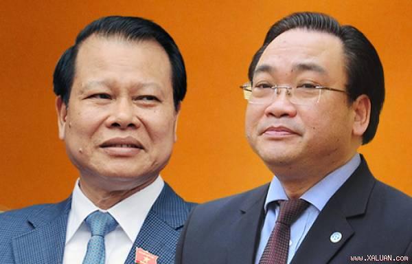 Phó thủ tướng Vũ Văn Ninh (trái) và Phó thủ tướng Hoàng Trung Hải.
