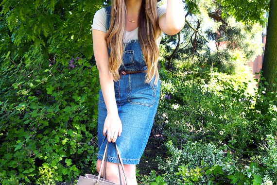 Dungaree Dress Outfit Post