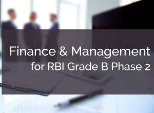 RBI Grade B Finance an& Management Strategy