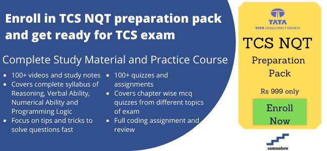 TCS NQT course
