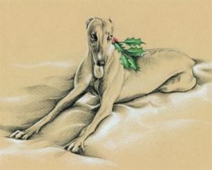 Essie - greyhound holiday art