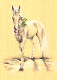 Gift Horse holiday art