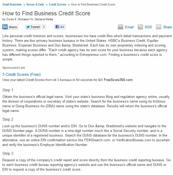 Find business credit score xanjero find business credit score reheart Image collections