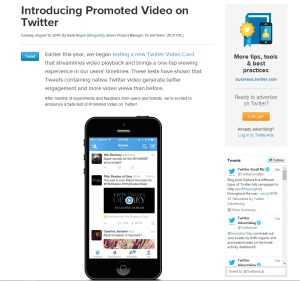 Twitter promoted video