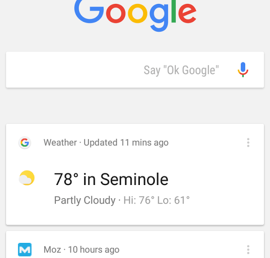 Google App Trending News Cards Appearing on Android, iOS