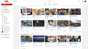 YouTube material design old version