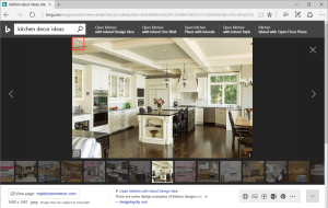 Bing Visual search screenshot