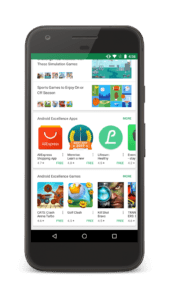 Google Play Android Excellence example