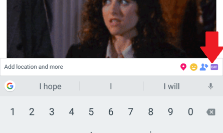 Facebook post GIF button