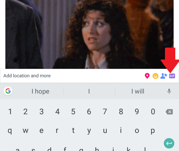 Facebook Post GIF Button Spotted on Some Android Devices