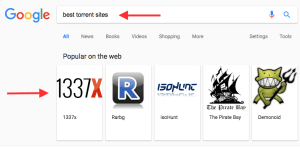 Google best torrent sites search carousel screenshot