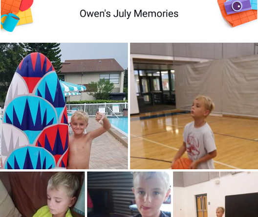 Facebook July Memories collage