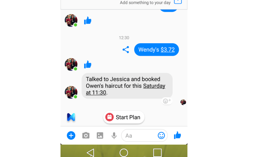 Facebook Messenger M Virtual Assistant Now Wants to be a Personal Planner