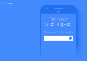 Google My Business test mobile site speed page