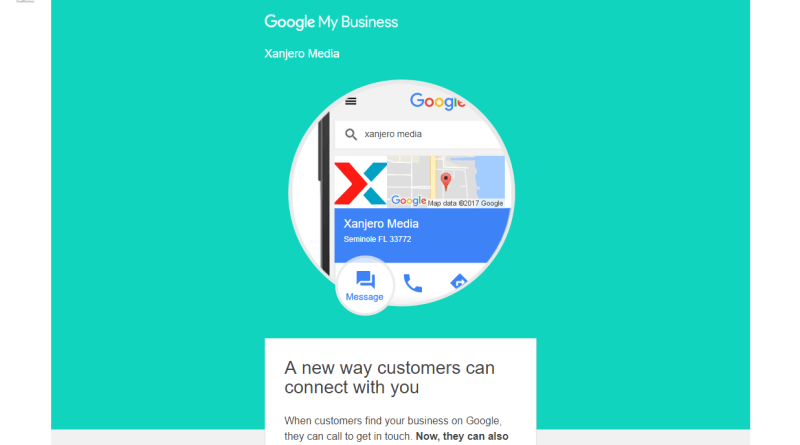 Google My Business text messaging
