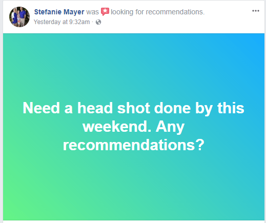 New Facebook Ask For Recommendations Desktop Button Appears Xanjero