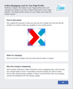 Facebook Page redesign announcement