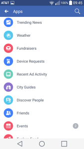 Facebook Recent Ad Activity Android 2