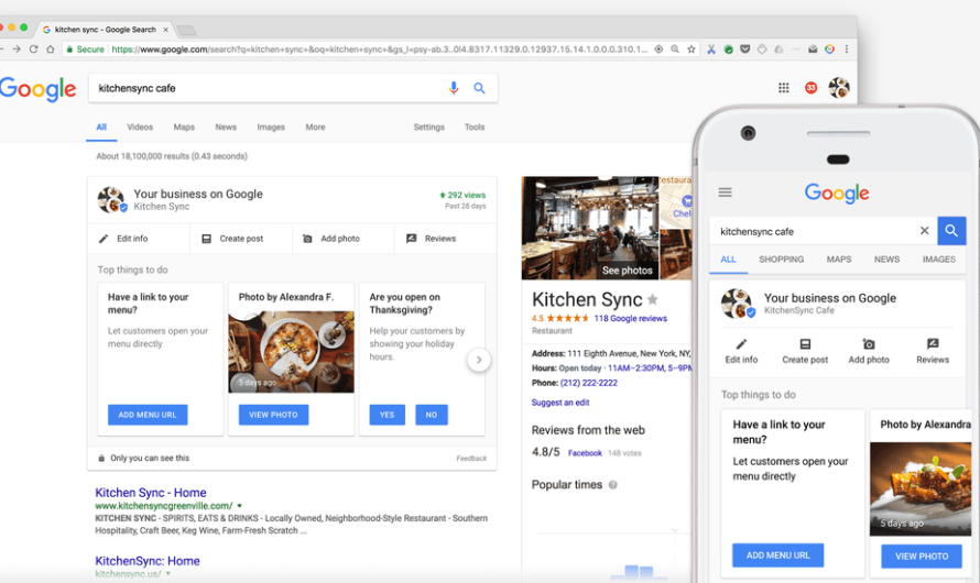 Businesses can Now Edit Their Google My Business Listings Right on the SERP