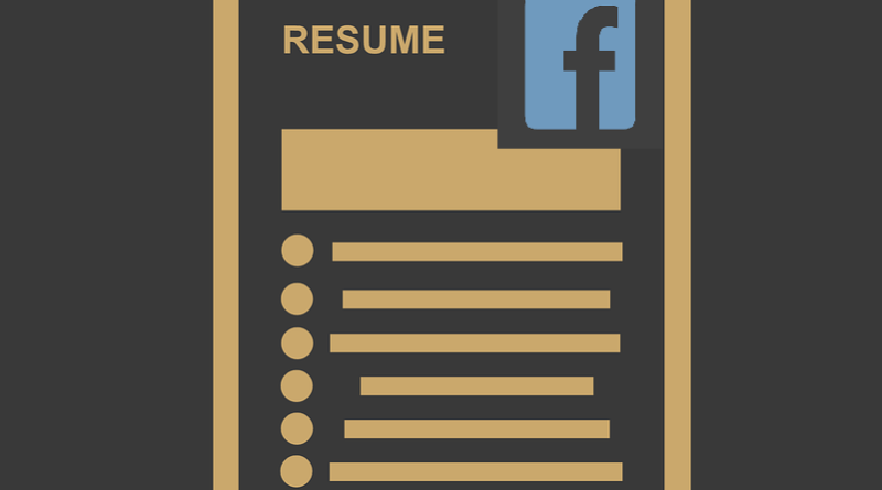 Facebook resume feature