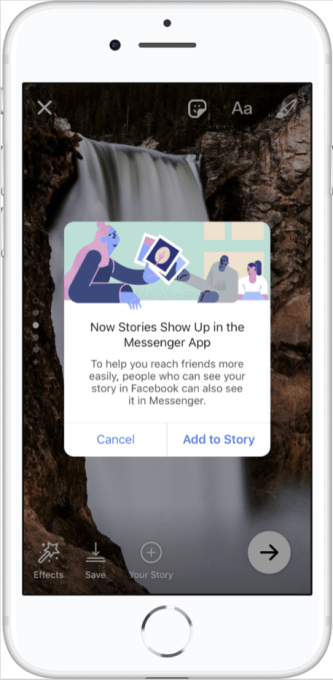 Facebook Stories replaces Messenger Day